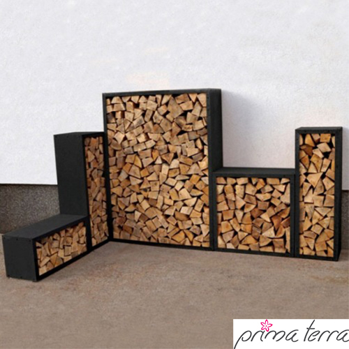 prima terra kaminholzregale schwarz produkt detail seite garten online. Black Bedroom Furniture Sets. Home Design Ideas